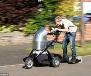 Baby Stroller Gets 125cc Engine, Heading for 50mph Top Speed