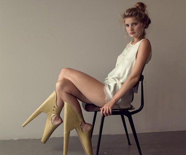 Scary/Beautiful: Backwards High Heels Look Painfully Strange
