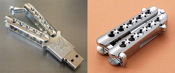 balisong butterfly knife usb drive by benchmade