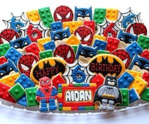 Spider-Man and Batman LEGO Cookies: Marvel and DC Unite! (in My Belly)