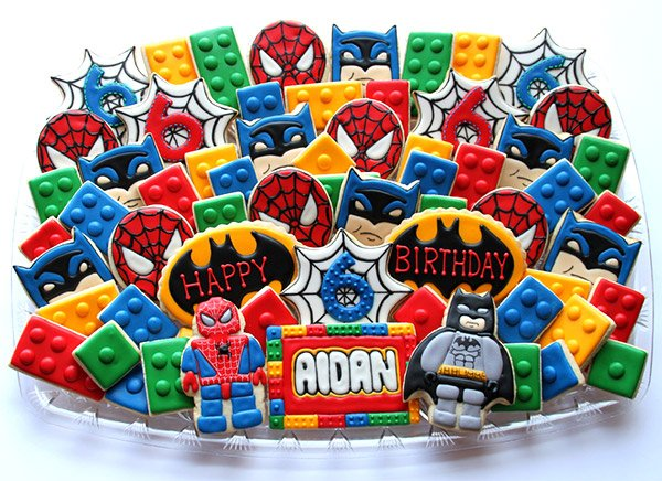batman spiderman cookies