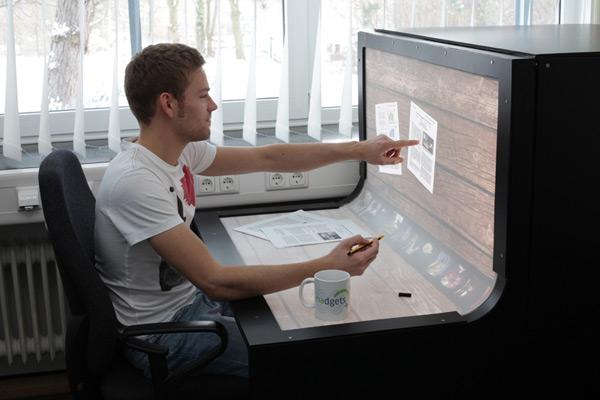 benddesk concept workstation computer desk projection
