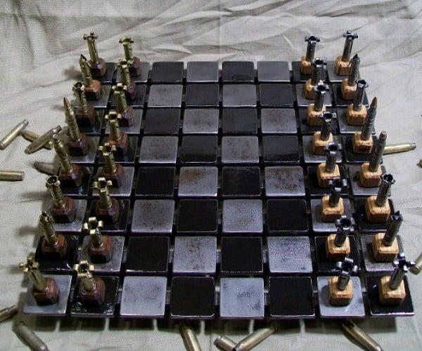 Steel and Bullet Chess Set Looks Killer