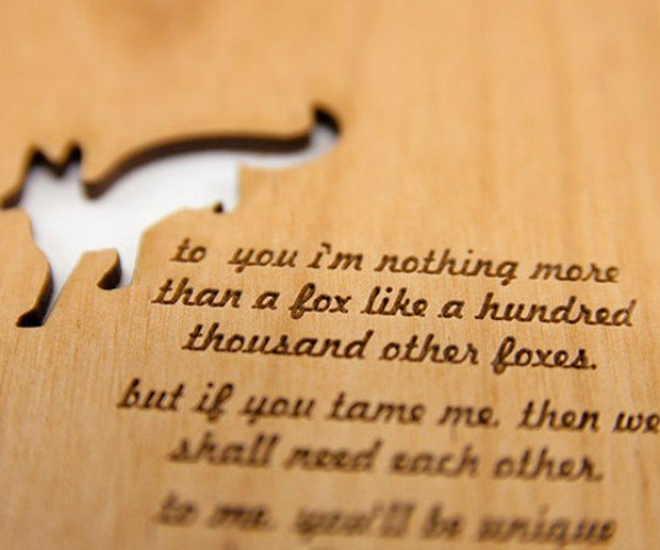 Cardtorial Laser-Cut Wooden Postcards – Because Paper Isn't Enough