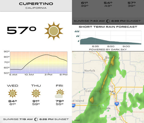 check the weather iphone app ios weather meteorology software