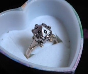 D10 Engagement Ring: Roll for I Do
