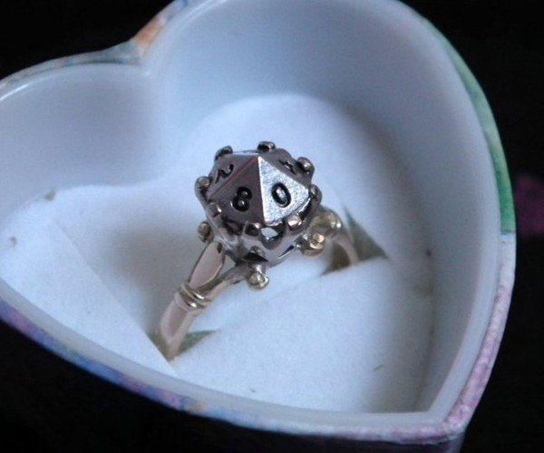 D10 Engagement Ring: Roll for I Do