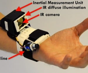 Wrist-mounted Sensor Enables Touchless Multi-touch