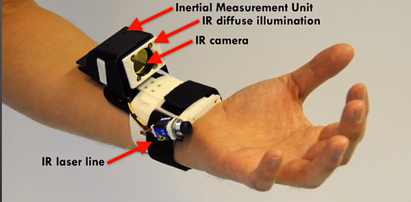 digits wrist sensor cambridge microsoft