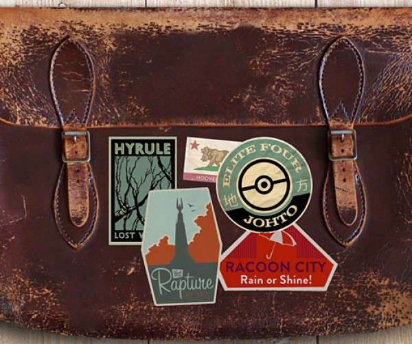 gaming luggage labels by aj hateley