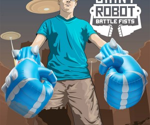 Giant Inflatable Robot Fists, Hells Yeah.