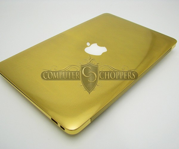 gold macbook air computer choppers 8