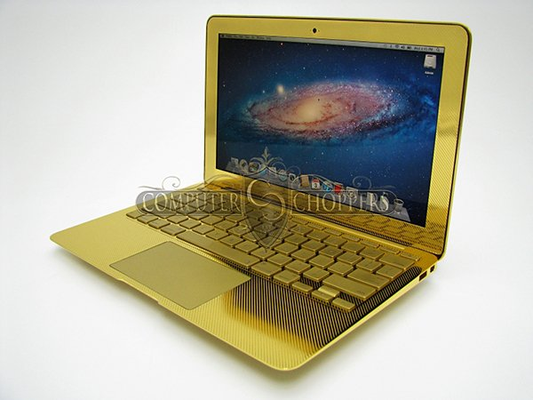 gold macbook air computer choppers