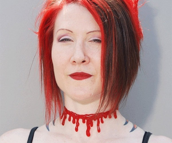 Gory Halloween Costume Jewelry Slits Your Throat or Wrist