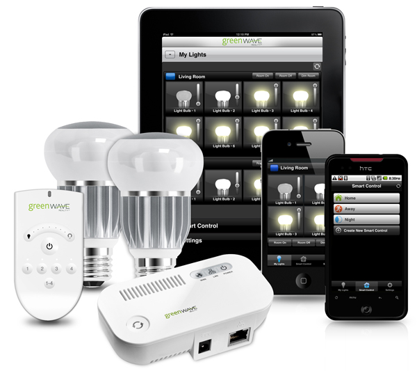greenwave reality wi fi led bulbs controlled lighting