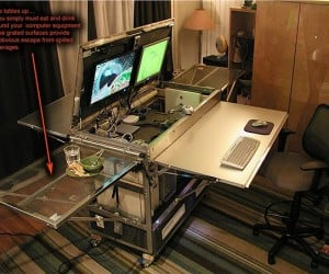 Guy Makes Mobile Office from IKEA Parts