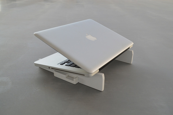 itamar neiger laptop stand 3d-printed compact mobile workstation