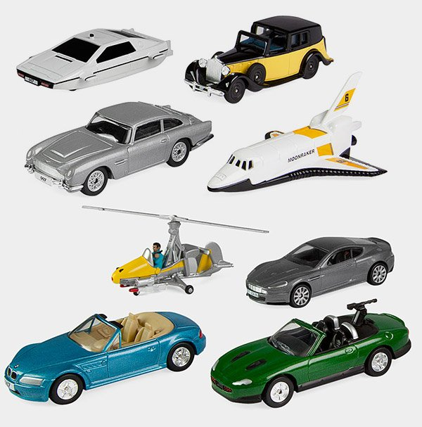 James Bond 007 Miniature Vehicles Set Q Approved Technabob
