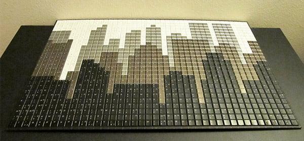 keyboard cityscape