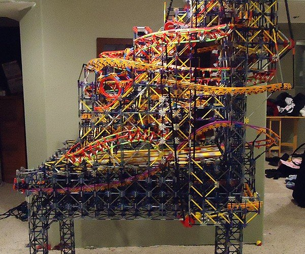 K'nex Pinball Machine is More Like a Pinball Rollercoaster