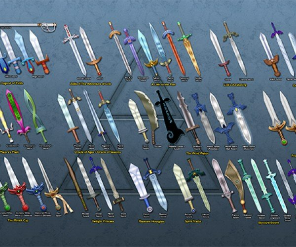 Legend of Zelda Link's Swords Wallpaper: Take These. All of Them.