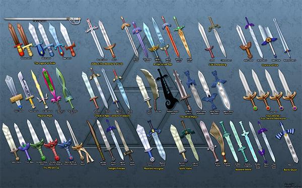 legend of zelda link sword by BLUEamnesiac