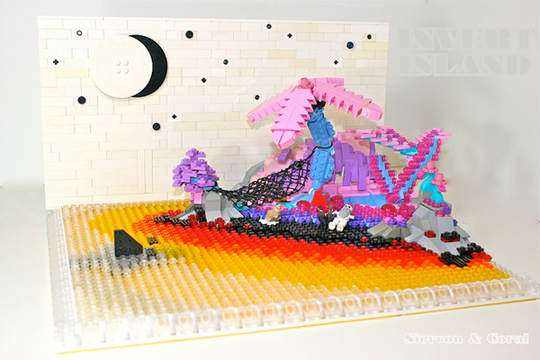 lego invert color island by sean and steph mayo