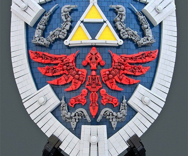 Life Size LEGO Zelda Hylian Shield: It's Dangerous to Go Alone! Take Bricks.