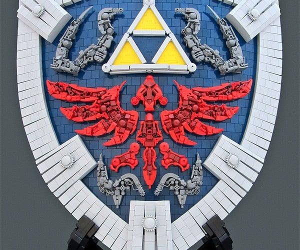 Life Size LEGO Zelda Hylian Shield: It's Dangerous to Go Alone! Take Bricks.