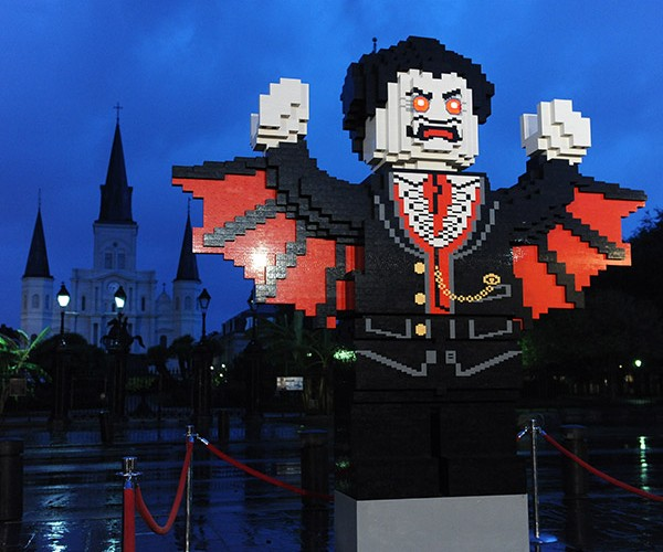 Giant LEGO Vampire Rises from the Ground in New Orleans