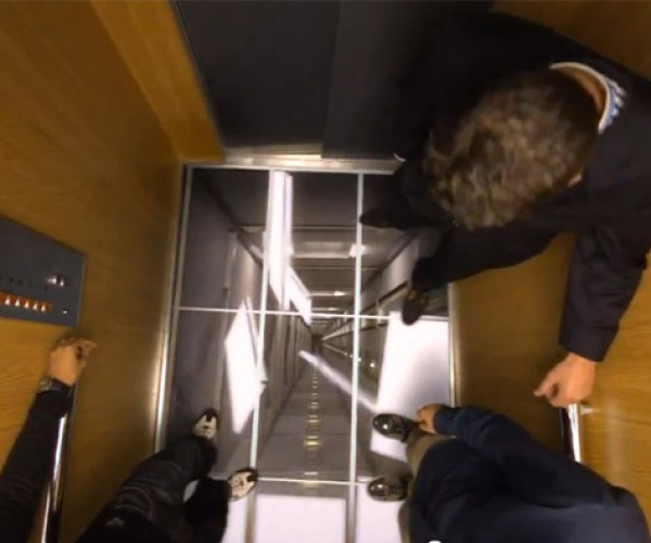 LG Uses TVs in Elevators to Scare the Crap out of People