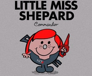 little miss shepard mr shepard mass effect t-shirt