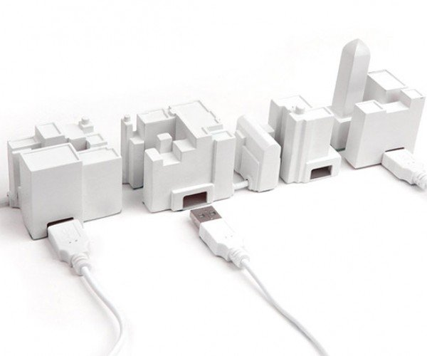 Lonely City USB Hub: Where Did All the People Go?