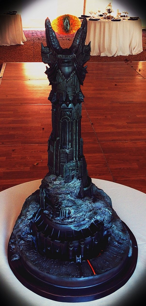 lord of the rings barad dur sauron cake