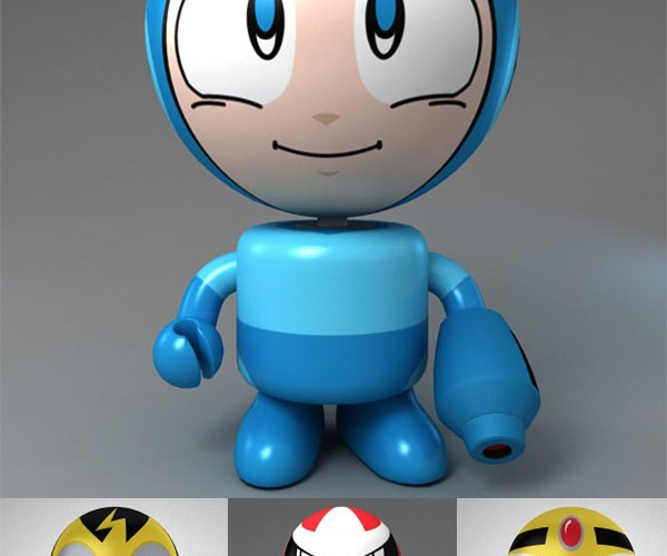 Mega Man Bobble Heads Bobble on By