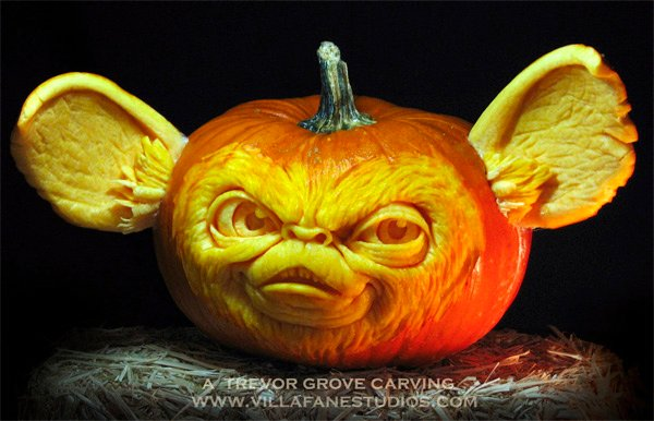 mogwai pumpkin carving