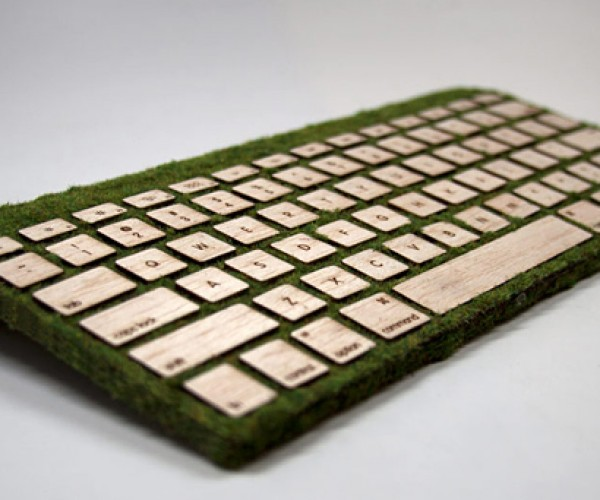 Natural Keyboard Grown from a Laser Cutter