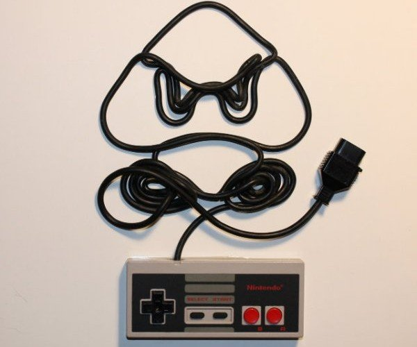 Nintendo Controllers & Cords Turned into Art
