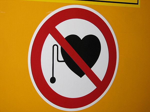 no pacemaker sign by library mistress