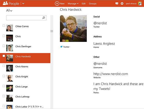 outlook unified contacts