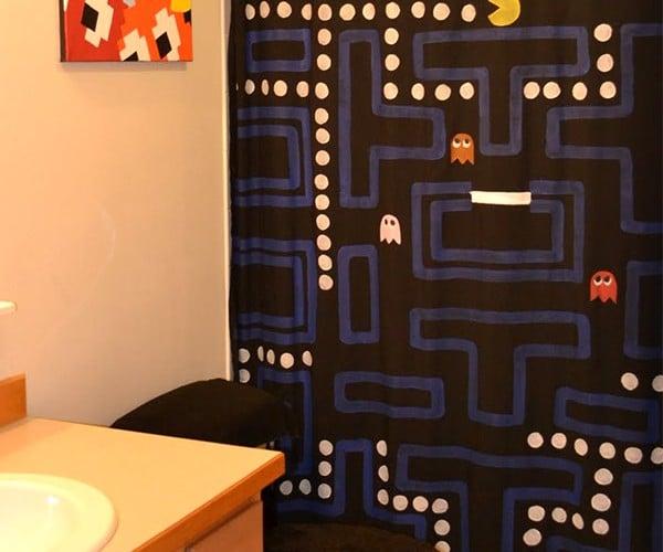 Pac-Man Shower Curtain: Washa, Washa, Washa