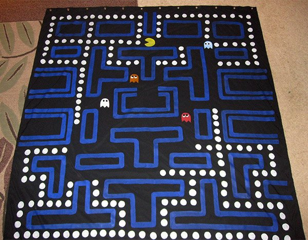 pac man shower curtain 2