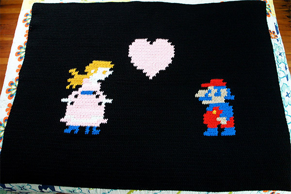 peach mario throw