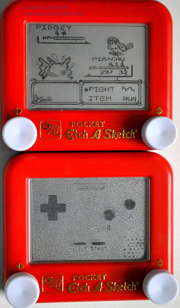 pokemon etch-a-sketch by jane labowitch princess etch-a-sketch