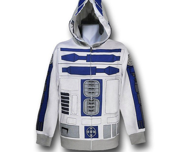 R2-D2 Costume Hoodie: Help Me Obi Wan Kenobi, You're My Only Coat