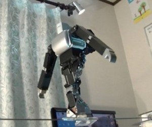 Robot Walks a Tightrope: Robot Circus is One Step Closer