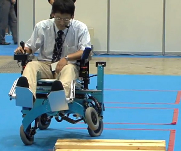 Robotic Wheelchair Can Use Its Wheels as Legs: Clearly an Autobot