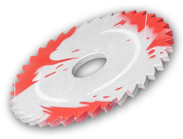 sawblade throwing disc frisbee