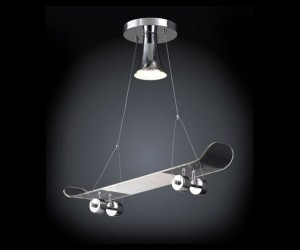 Skateboard Lamp Great for Doing Faceplants from Your Ceiling