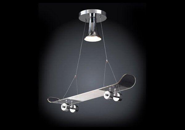 Skateboard Lamp skateboard lamp great for doing faceplants from your ceiling
